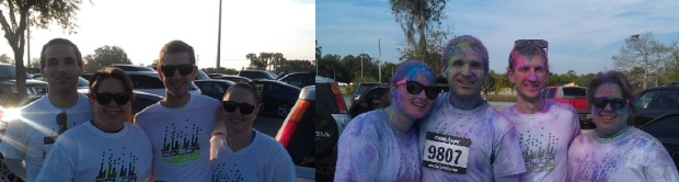 My first 5K was a color run!