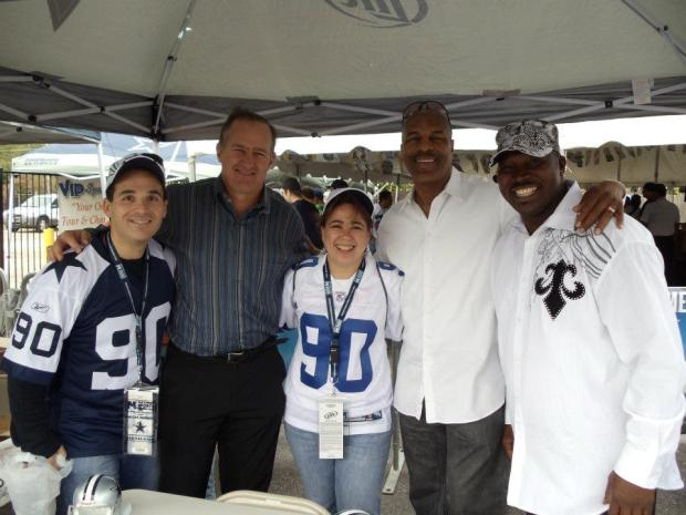 Tailgate in Big D with Hubby, Bill Bates, Me, Everson Walls & Kenny Gant