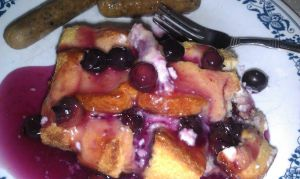 Hubby's Blueberry Stuffed French Toast Casserole