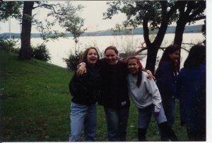 Student Ambassadors retreat (left alternative chick, middle hippie, right me)