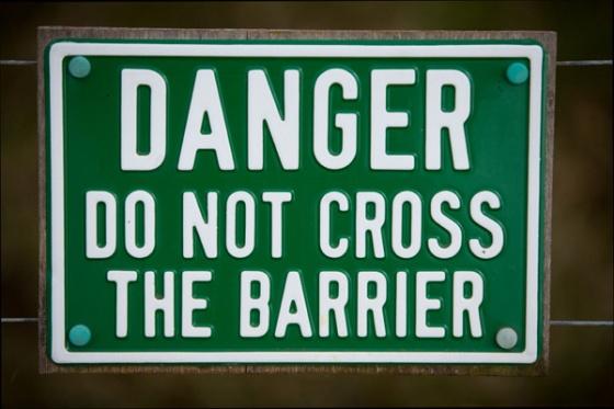 Boundary Warning