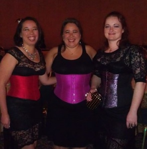 Showing off our brand new lace up corsets for the Vampire Ball