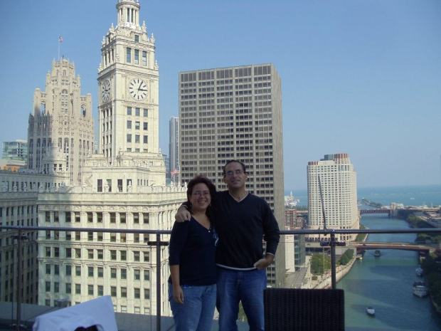 Hubby & me at Trump Tower in Chicago