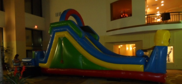 The Blow Up Slide In the Hotel Lobby