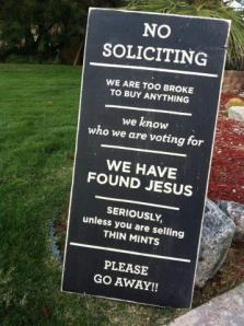 no-soliciting