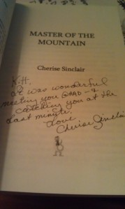 She STILL autographed my book...