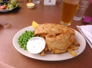 Fish and Chips with Cider