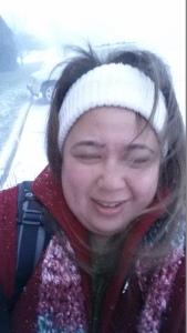 Windy, Snowy Selfie